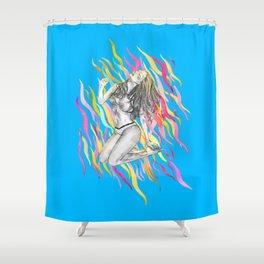 Ibiza Summer Flame Shower Curtain