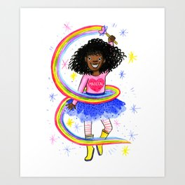 Magical Black Girl Art Print
