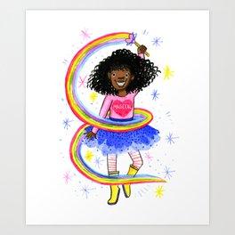 Magical Black Girl Art Print