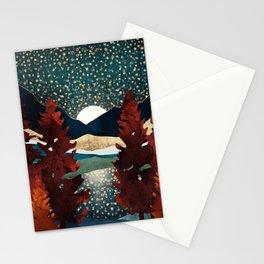 Star Sky Reflection Stationery Cards