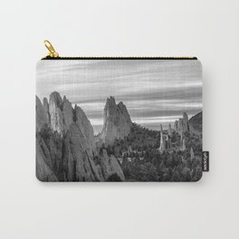 Garden of the Gods - Colorado Springs Landscape in Black and White Carry-All Pouch