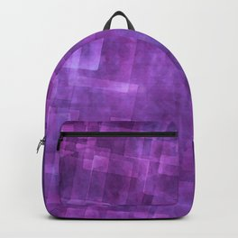 Abstract Purple Squares Digital Painting Backpack