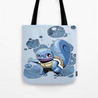 squirtle Tote Bags featuring Squirtle by Yamilett Pimentel