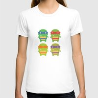 teenage mutant ninja turtles T-shirts featuring Teenage Mutant Ninja Kawaii Turtles by geraldbrio