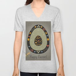 Festive Easter Egg with Cute Egg inside Unisex V-Neck