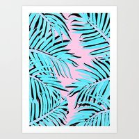 palm tree Art Prints featuring Palm tree by Hanna Kastl-Lungberg