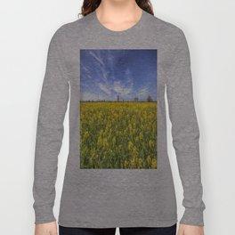 Yellow Fields Of Summer Long Sleeve T-shirt