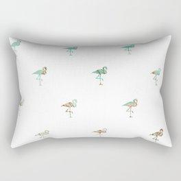 Flamingo Spring Pattern Rectangular Pillow