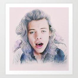 Harry Styles, DMD  Art Print