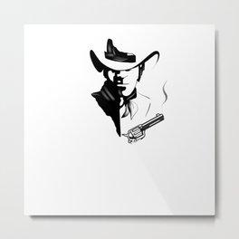 Cowboy illustration  Metal Print