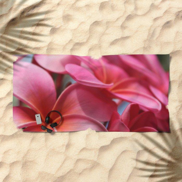 He Pua Lahaole Ulu Wehi Aloha Beach Towel