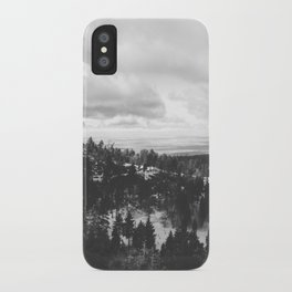 Mountains and Desert view iPhone Case
