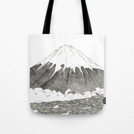 Mt Fuji and Delphines Tote Bag
