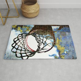 Basketball artwork vs 30 swoosh Rug