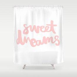 Sweet Dreams - Peach Shower Curtain