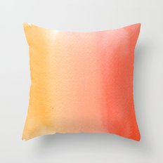 Sandy Sunset Throw Pillow