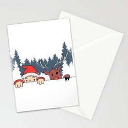 Santa Reindeer Stationery Cards