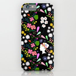 late summer bouquet pattern iPhone Case