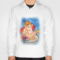 ganesh Hoodies featuring ganesh ji.. by art dun (anup)