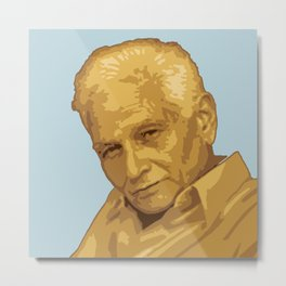 Jacques Derrida Metal Print