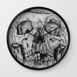 SKULL/Puntillismo Wall Clock