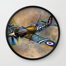 Spitfire Dawn Flight Wall Clock