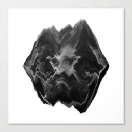 Black and White Glitch Art Canvas Print