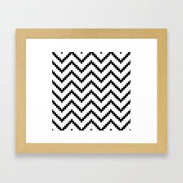 Tribal Chevron W&B Framed Art Print