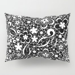 White lace Pillow Sham