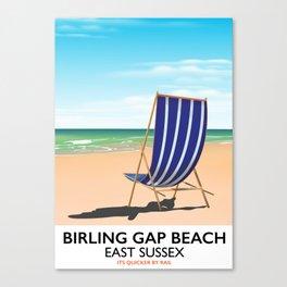 Birling Gap Beach, East Sussex vintage train poster Canvas Print