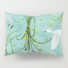 little egrets Pillow Sham