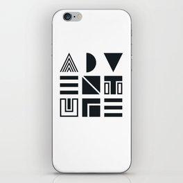 Geometric Adventure B&W iPhone Skin