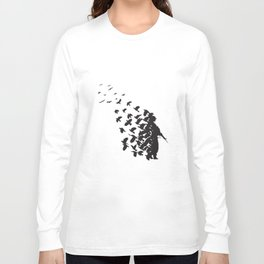 Banksy Soldier Peace Pigeons Hipster Men Women Unisex Hipster T-Shirts Long Sleeve T-shirt