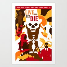 James Bond Golden Era Series :: Live and Let Die Art Print