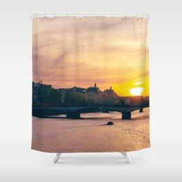 Sunset on the Seine Shower Curtain