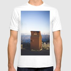 Miles high trash can SMALL Mens Fitted Tee White