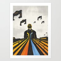 tron Art Prints featuring TRON by Sam Hetherington