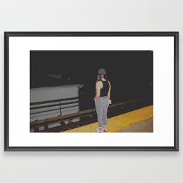Girl In Waiting Framed Art Print