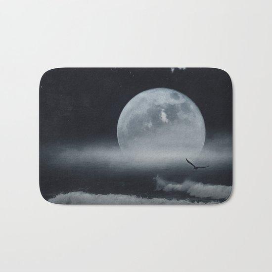 moon-lit ocean Bath Mat
