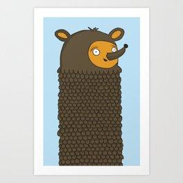 Tall Bear Art Print