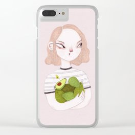 Eat Avocados Not Animals Clear iPhone Case