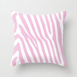 Baby Pink Zebra Stripes Throw Pillow