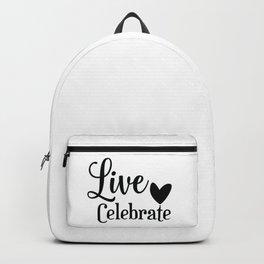 Celebrating live Backpack
