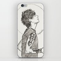 louis ck iPhone & iPod Skins featuring Louis by harrydoodles