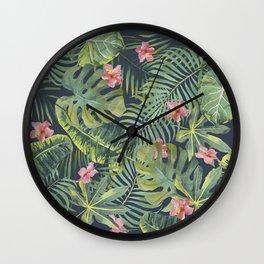 Palm Leaves Pattern 13 Wall Clock