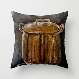 Old Copper Pot Throw Pillow