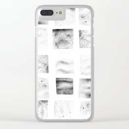 Texture Stamps Clear iPhone Case