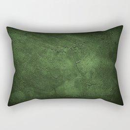 Old weathered dark green wall  background Rectangular Pillow