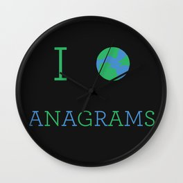 I heart Anagrams Wall Clock