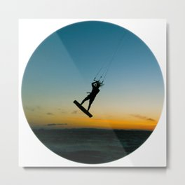 """LAUNCH""  kitesurf . kite . surf Metal Print"